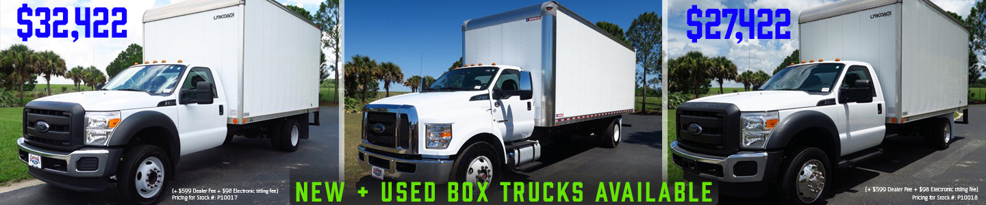 Commercial vehicles group of 3, Box Trucks