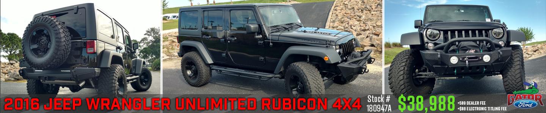 black jeep rubicon 2016 w/ price