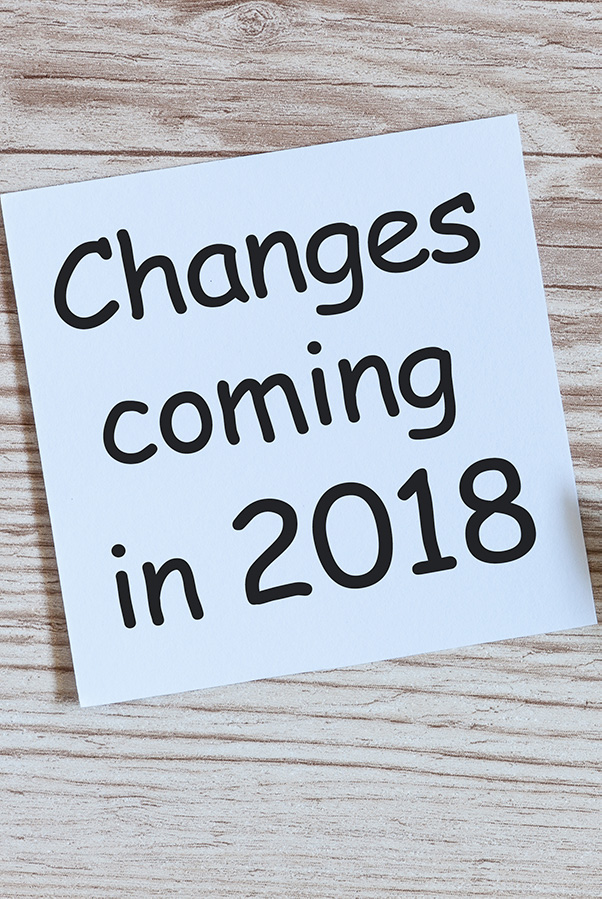 What's new for 2018?