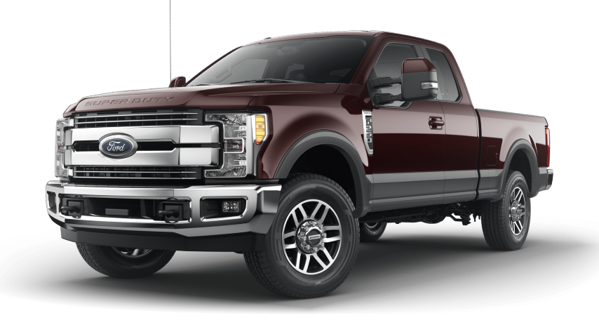 2019 Ford Super Duty 2 Tone Magma Red with Magnetic