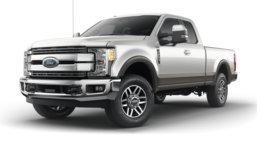 2019 Ford Super Duty 2 Tone White Platinum with Stone Gray