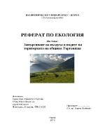 Замърсяване на въздуха и водите на територията на община Търговище