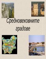 Средновековните градове в България