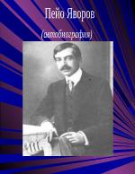 Пейо яворов-автобиография