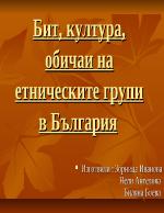 Бит култура и обичаи на етническите групи в България