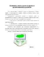 Позицията място и роля на проект в организационното развитие