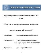 Търсенето и предлагането на пазарa на кисело мляко в България