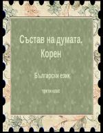 Състав на думата Корен