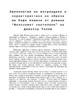 Хронология на изграждане и характеристика на образа на Рафе Клинче от романа Железният светилник на Димитър Талев