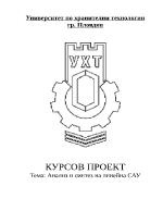 КУРСОВ ПРОЕКТ Тема Анализ и синтез на линейна САУ