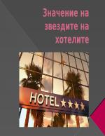 Значение на звездите на хотелите