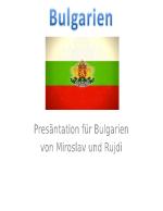 Bulgarien - презентация немски