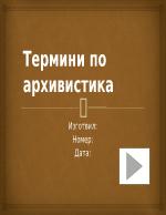 Термини по архивистика
