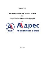 Подобряване фирмената структура Адрес недвижими имоти