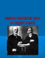 Химично равновесие Закон на Гулдберг и Вааге