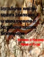Безгръбначни животни- паразити