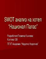 SWOT анализ на хотел Национал Палас