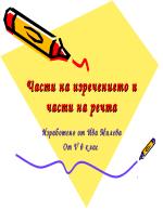 Части на изречението и части на речта