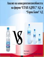 Анализ на конкурентноспособността на фирми Етап адрес АД и Горна баня АД