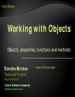 Javacript Working with Objects
