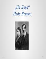 На Лора - Пейо Яворов