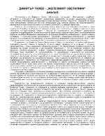 Димитър Талев - Железният светилник - Анализ