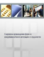 Съвременни организационни форми за междуфирмена бизнес интеграция и сътрудничество