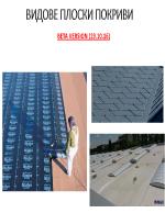 Видове плоски покриви