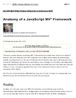 Anatomy of a JavaScript MV Framework