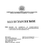 Анализ на капитала и капиталовата структура на Текстил ГрупЕООД