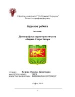 Демографска характеристика на община Стара Загора