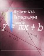 Двустенен ъгъл Перпендикулярни равнини