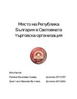 Място на Република България в Световната търговска организация