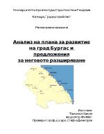Анализ на плана за развитие на град Бургас и предложения за неговото разширяване