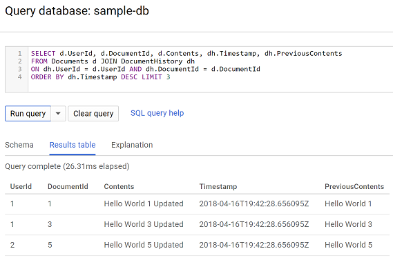 using cloud spanner s commit timestamp feature to create a change