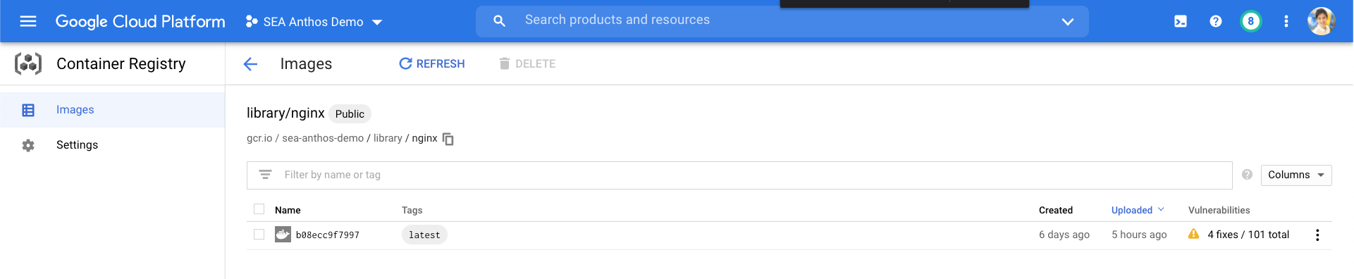State of Google Container Registry