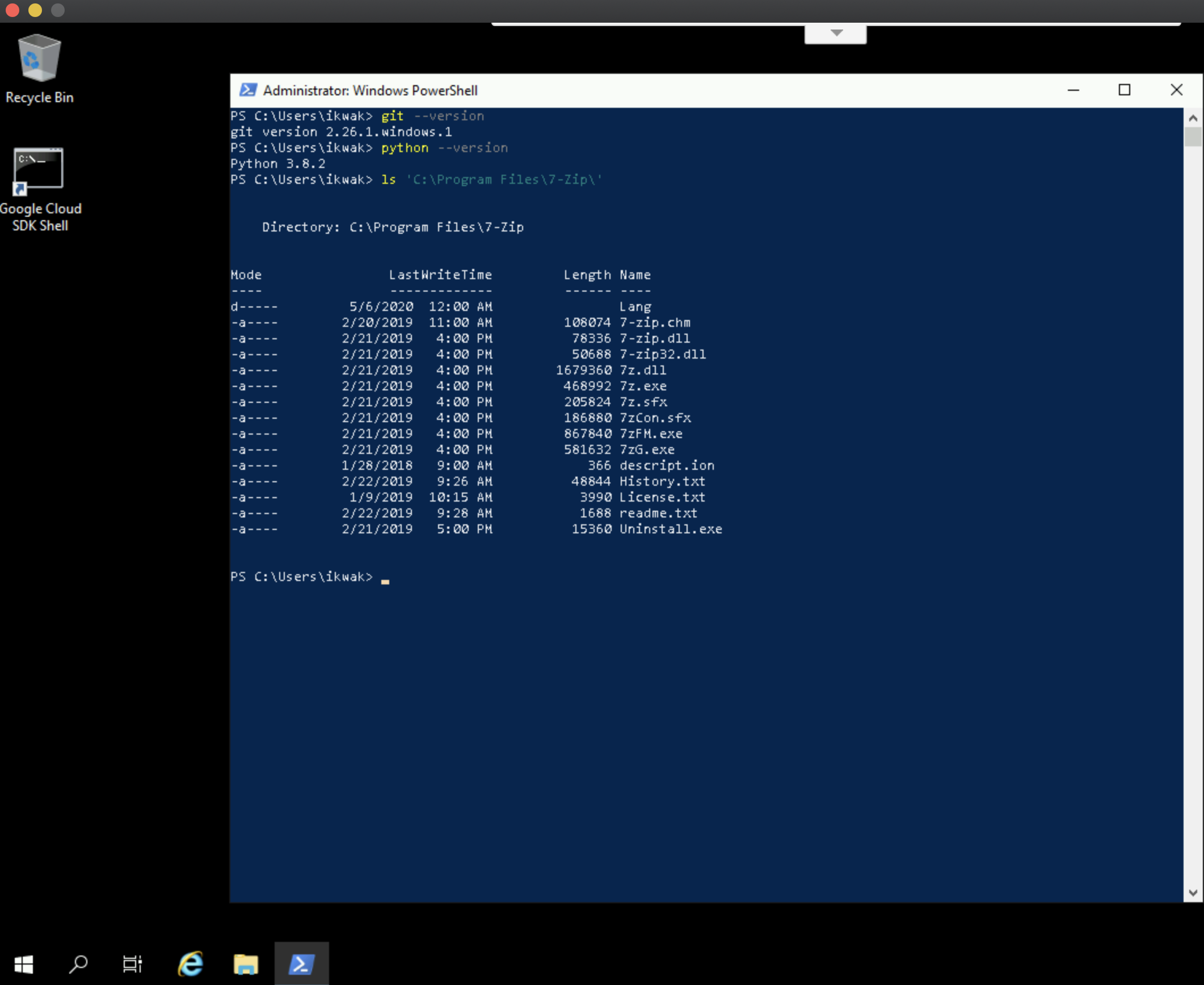 verifying packer windows build in cmd