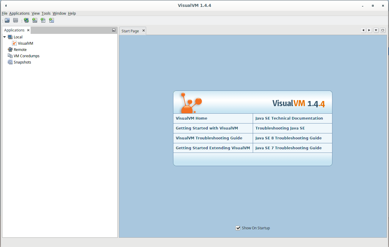 VisualVM main window
