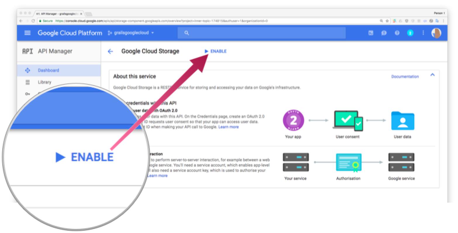 Screenshot showing Enable button