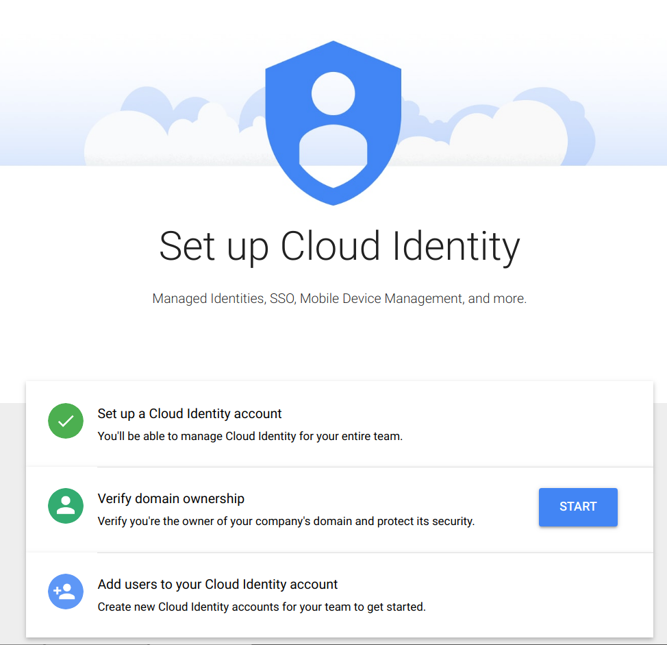 Set up Cloud Identity