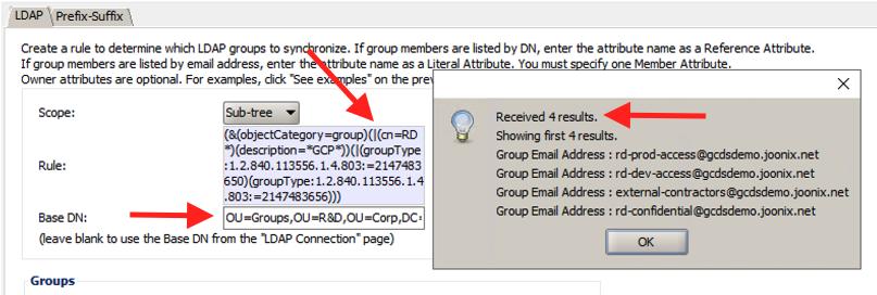 GCDS groups R&D screenshot