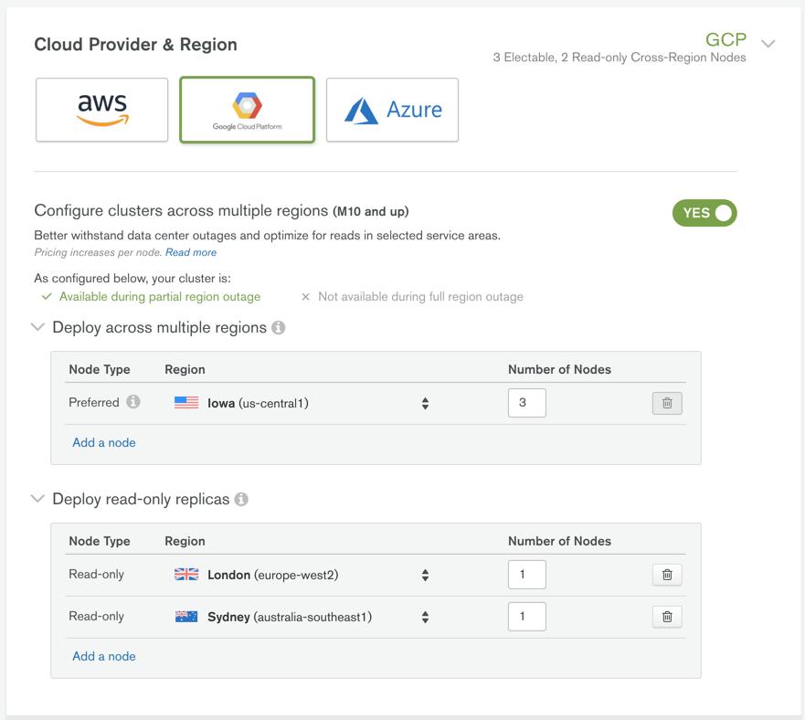 Hello World app - MongoDB Atlas and App Engine flexible environment