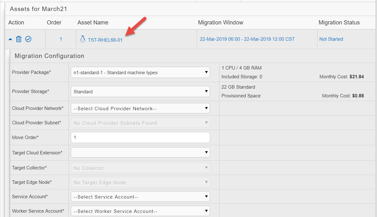 Where to set workload migration preferences