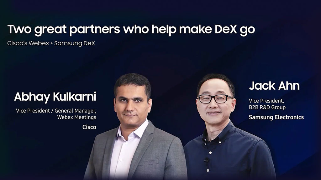 Two great partners who help make DeX go
