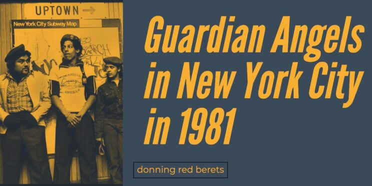 Guardian Angels in New York City in 1981