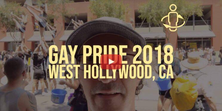 Spinning at the Los Angeles Gay Pride Parade