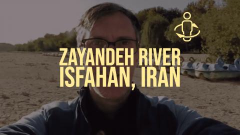 Zayandeh River in Isfahan Iran