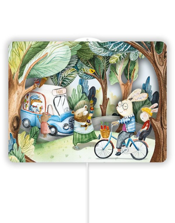 wall lamp with forest ice cream theme