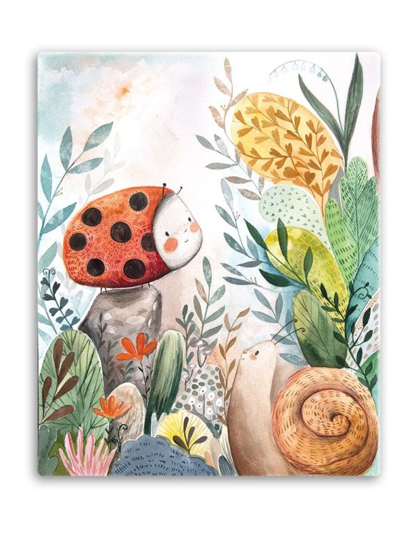 Ladybug and her friend canvas art