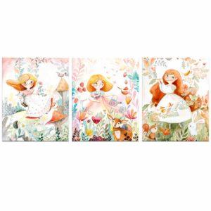 Fairy canvas print set